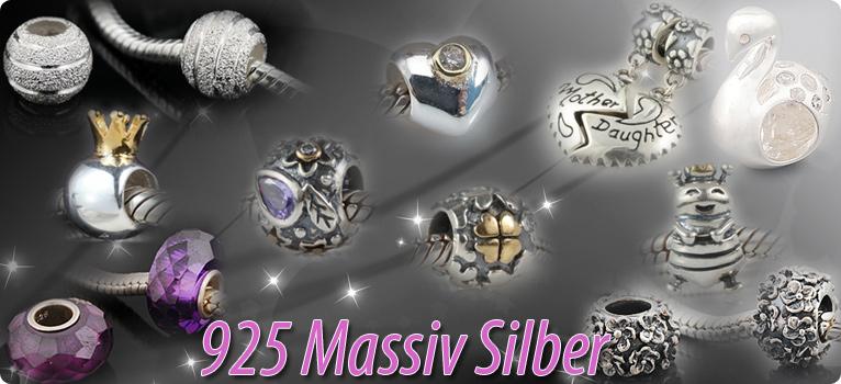 925 Silber Beads Blüten mit 8 Zirkonia hochglanz European Beads Blumen Element