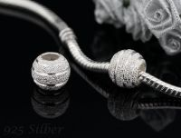 Andante-Stones 925 Sterling Silber Bead Charm STARDUST Element Kugel mit Organza